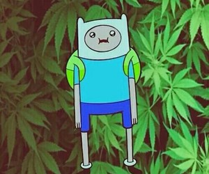 adventure time, weed, and finn image