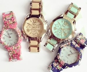 floral and wristwatch image