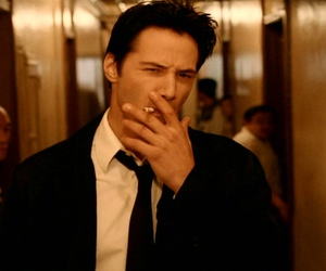 Constantine, smoking, and keanu reeves image