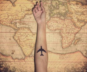 airplanes, beautiful, and tattoo image