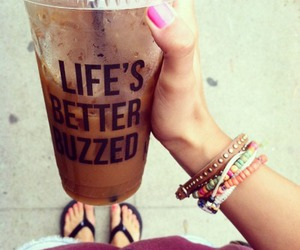 coffee, drink, and nails image