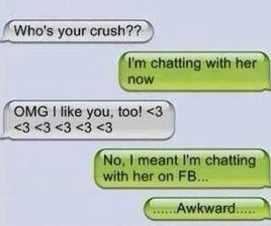 awkward, funny, and crush image