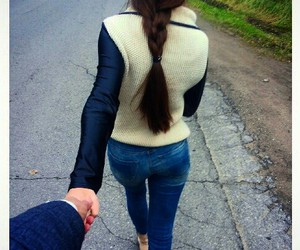 boy, brunette, and couple image