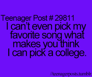 teenager post, college, and funny image