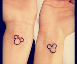 mickey mouse, small tattoo, and tattoo image