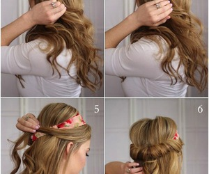 beauty, curly, and stepbystep image