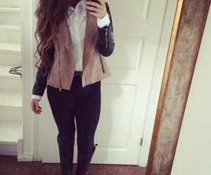 jacket, style, and boots image