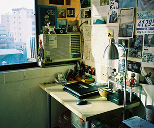 desk, inspiration, and messy image