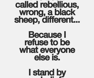quote, different, and rebellious image