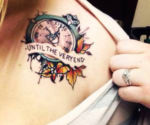 tattoo, harry potter, and clock image