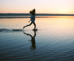girl, beautiful, and beach image
