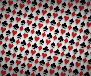 cards, pattern, and red image
