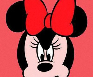 minnie, angry, and red image