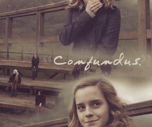 harry potter, hermione granger, and confundus image