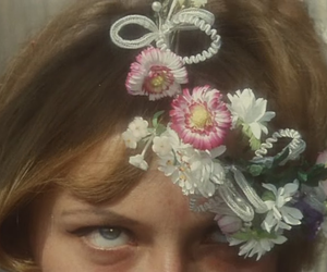 60's, girl, and flowers image