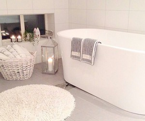 bathroom, candle, and interior image