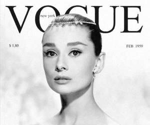 vogue, audrey hepburn, and black and white image