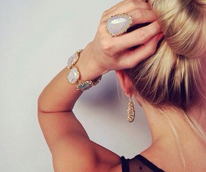 blond, pretty, and style image
