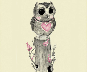 owl, cute, and art image