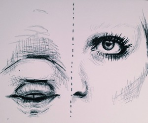 black, drawing, and eyes image