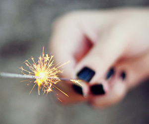 fireworks, nails, and black image