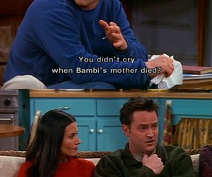 friends, chandler, and bambi image