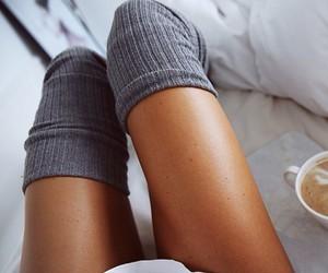 legs, coffee, and socks image