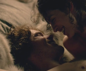 jamie fraser, outlander, and claire randall image