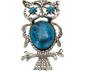 brooch, jewelry, and owl image