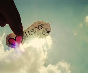 love, I Love You, and sky image