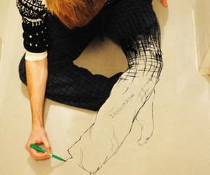 boy, art, and drawing image