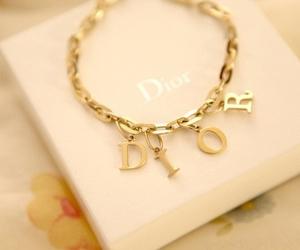 dior, gold, and bracelet image