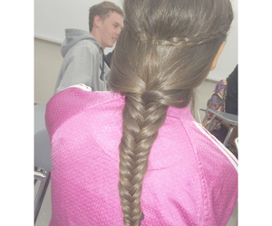 braids, brunette, and class image