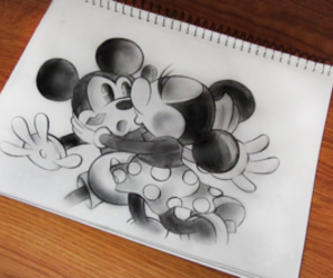 drawing, minnie, and kiss image