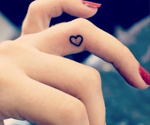 girly, tattoo, and heart image