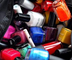 nails, nail polish, and makeup image
