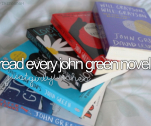 book, john green, and bucket list image
