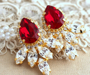 christmas, diamond, and earrings image