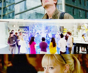 peter parker, gwen stacy, and the amazing spiderman image