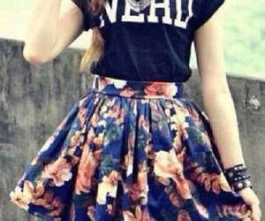 fashion, nerd, and skirt image