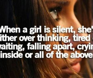 crying, silence, and life quotes image