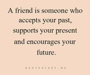 quote, friends, and future image