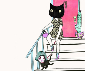 art, cat, and valfre image