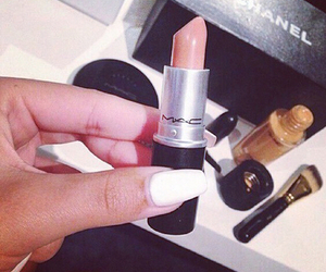 chanel, lipstick, and nails image