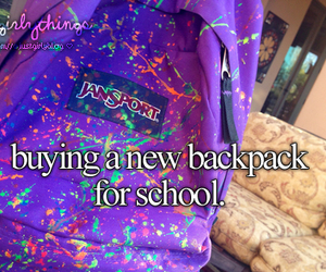 justgirlythings, just girly things, and backpack image