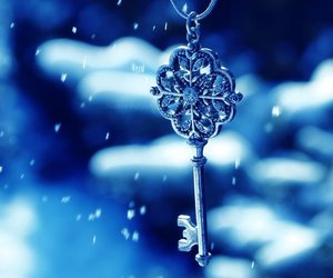 blue, key, and snow image
