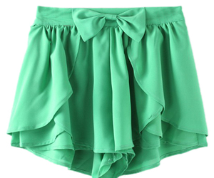 bow, green, and shorts image