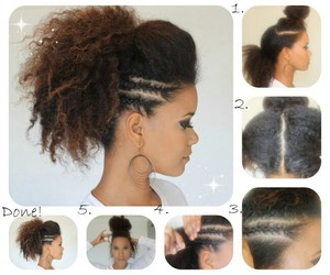 hairstyle, Afro, and beauty image