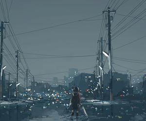 anime and night image