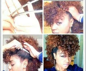 Afro, brown, and hairstyle image